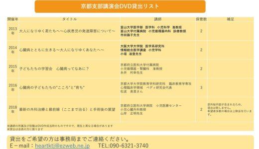 京都支部講演会DVD貸出リスト